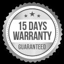 15 days warranty